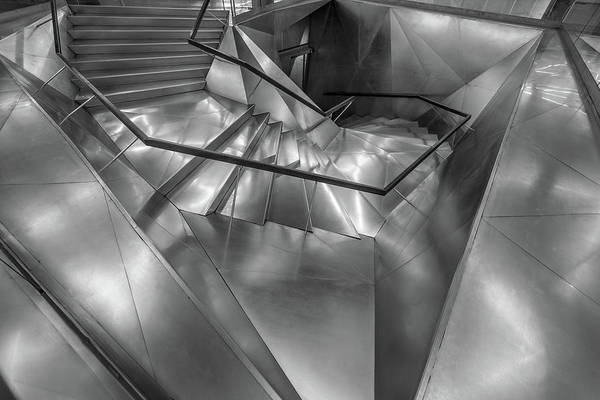 Caixa Forum Wall Art - Photograph - Caixaforum Madrid Museum Entrance Metal Staircase. by Manuel Ascanio