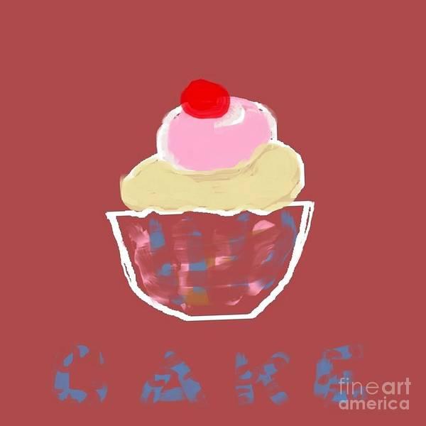 Whipped Cream Painting - Cake Desert by Vesna Antic