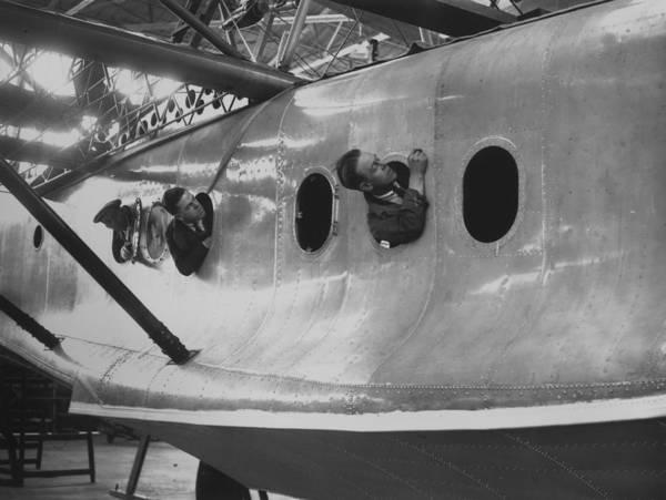 Stationary Photograph - Calcutta Flying Boat by E Bacon