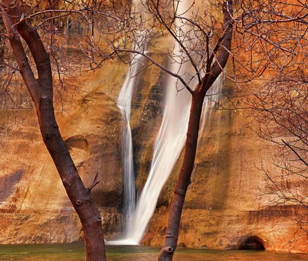 Best Photograph - Calf Creek Falls by Leland D Howard