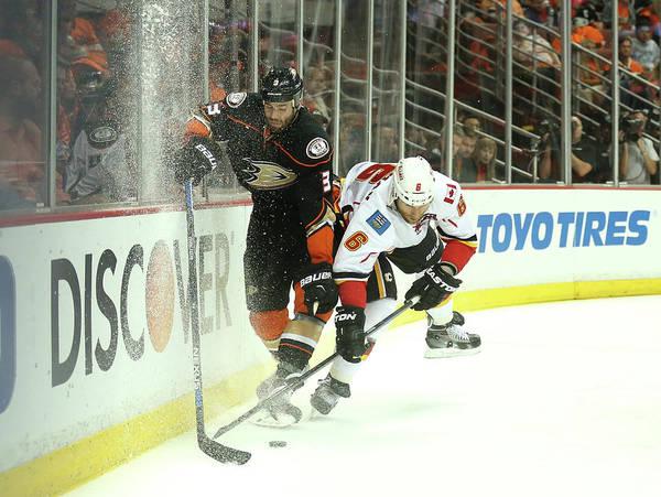Nhl Photograph - Calgary Flames V Anaheim Ducks - Game by Stephen Dunn
