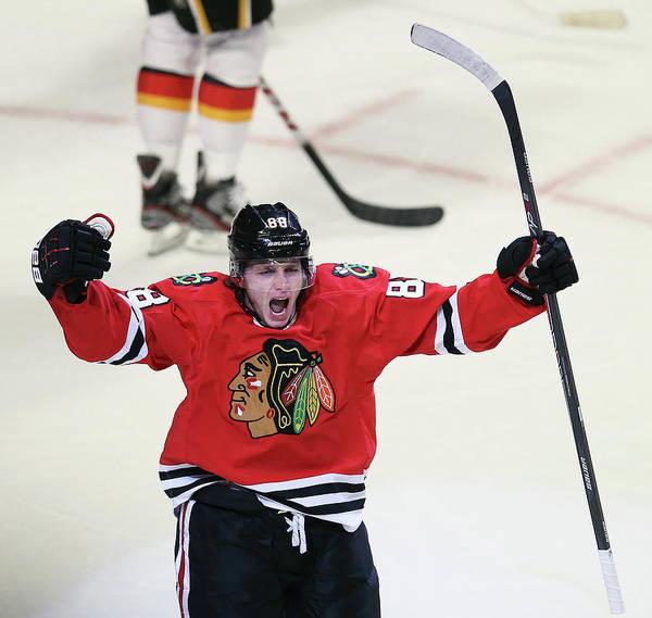 Chicago Blackhawks Photograph - Calgary Flames V Chicago Blackhawks by Jonathan Daniel
