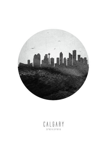 Wall Art - Digital Art - Calgary Skyline Caabca04 by Aged Pixel