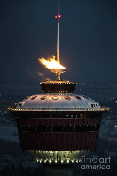 Photograph - Calgary Tower - 2014 Olympic Torch by Brad Allen Fine Art