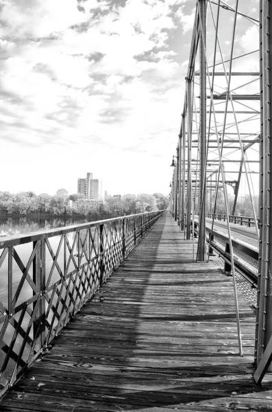 Wall Art - Photograph - Calhoun Street Bridge Walkway In Black And White by Bill Cannon