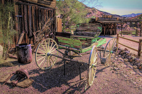 Photograph - Calico Ghost Town Buckboard by Floyd Snyder