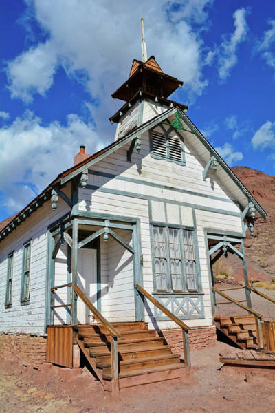 Photograph - Calico Ghost Town Schoolhouse by Kyle Hanson