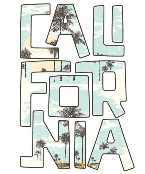 Wall Art - Digital Art - California Beach Gift Palm Tree Summer Vacation Ocean by Minted Fresh