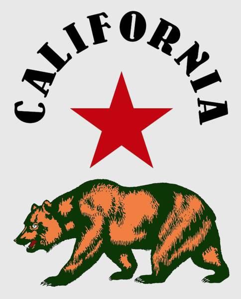 Wall Art - Digital Art - California Bear - T-shirt by Daniel Hagerman