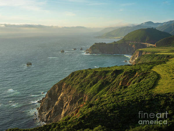 Wall Art - Photograph - California Coast Highway 1 Golden Light by Mike Reid