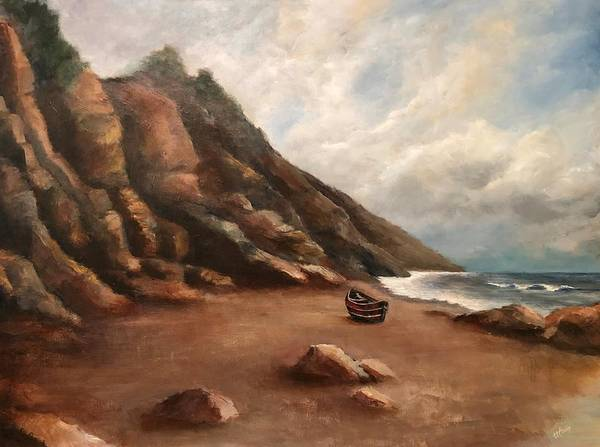 Wall Art - Painting -  California Coast No. 6 - Big Sur Green Wave by Terry Orletsky