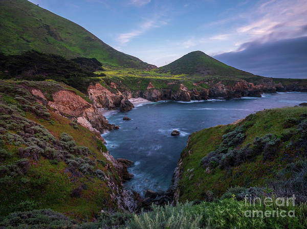 Big Sur Photograph - California Coastal Inlet Spring by Mike Reid