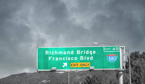 Interstate 5 Wall Art - Photograph - California Highway Traveling Richmond Bridge by Betsy Knapp