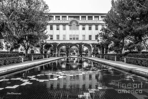 Photograph - California Institute Of Technology Beckman Institute With Pond by University Icons