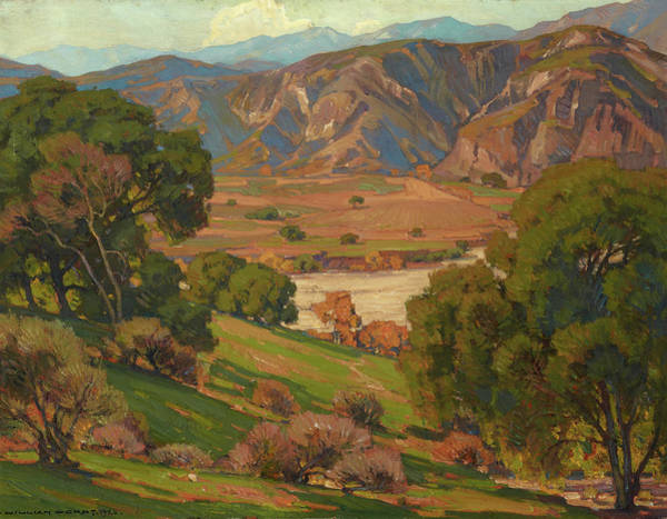 Wall Art - Painting - California Landscape by William Wendt