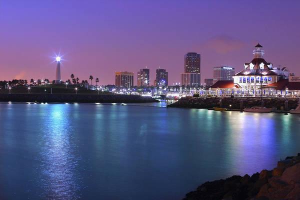 Wall Art - Photograph - California, Long Beach, Rainbow Harbor by Thomas Mcconville
