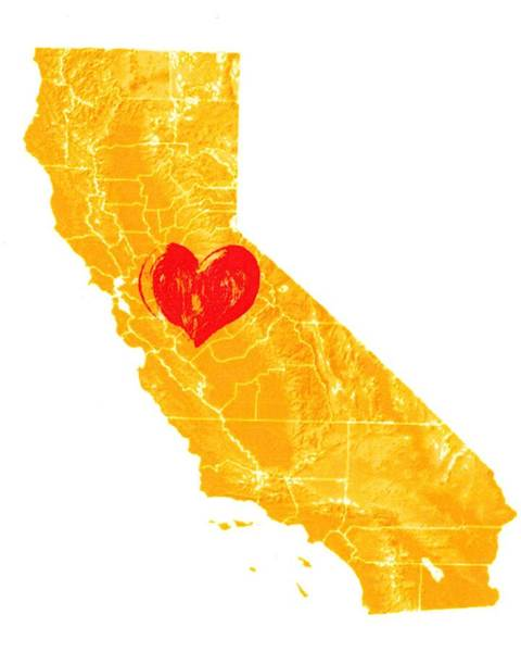 Digital Art - California Love by Carlin Blahnik CarlinArtWatercolor