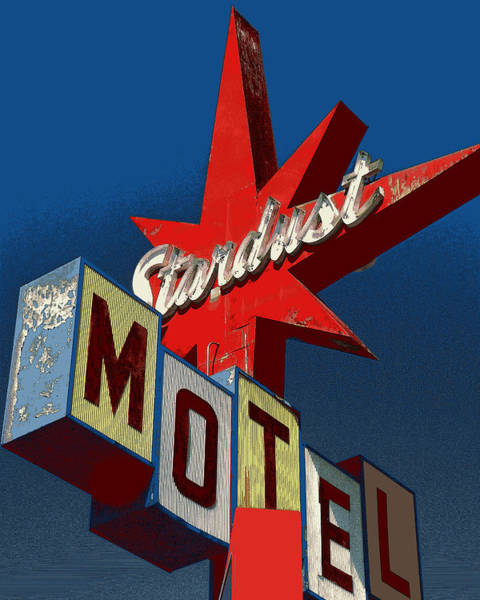 Drawing - California Motel Sign, 1950 Style - Photo Art Illustration by Peter Potter