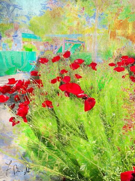 Wall Art - Digital Art - California Poppies Abstract by Frank Bright