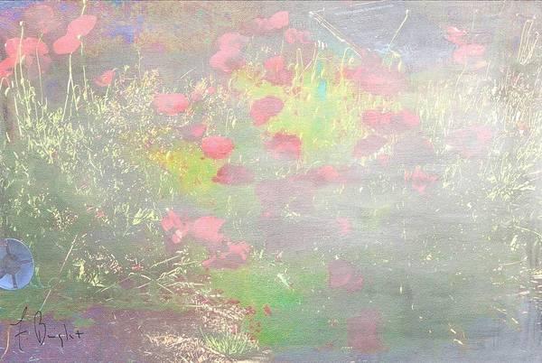 Wall Art - Digital Art - California Poppies At Botanical Garden by Frank Bright