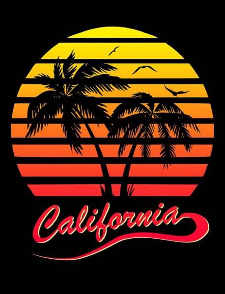 Wall Art - Digital Art - California Sunset by Filip Hellman
