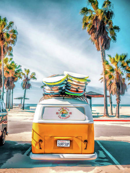 Painting - California Surfer Vw Camper Van by Christopher Arndt