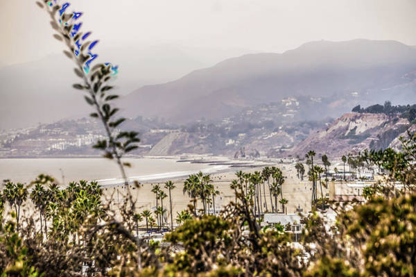 Photograph - California Woosley Fires Smoke Hanging Over Santa Monica  by Alex Grichenko