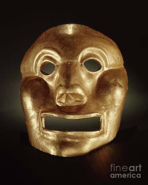 Wall Art - Photograph - Calima Mask  by Peruvian School