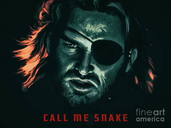 Mixed Media - Call Me Snake - Escape From New York 1981 by Kultur Arts Studios