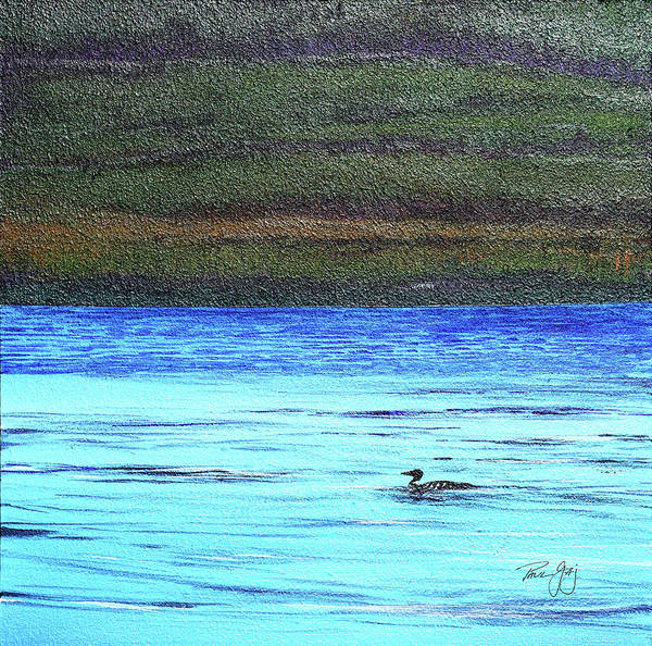 Painting - Call Of The Loon by Paul Gaj