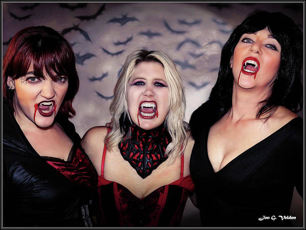 Photograph - Call Of The Vampires Women by Jon Volden