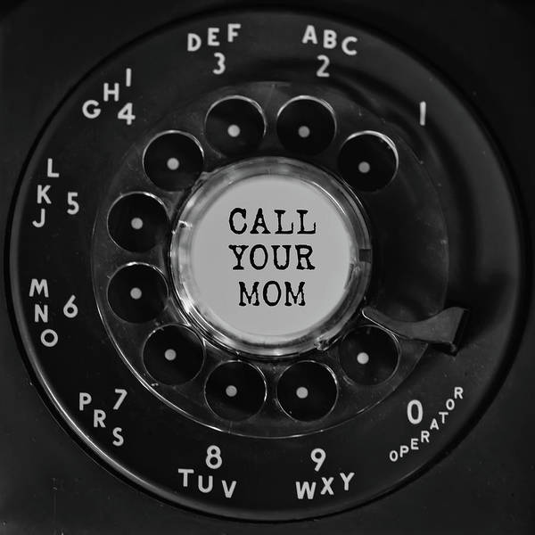 Photograph - Call Your Mom Vintage Phone Dial Square by Terry DeLuco