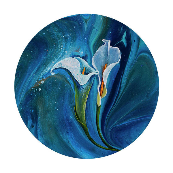 Painting - Calla Lily On White by Darice Machel McGuire