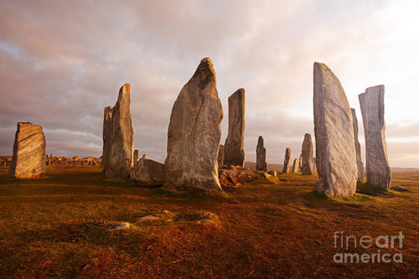 Scotland Wall Art - Photograph - Callanish Standing Stones Neolithic by Unknown1861