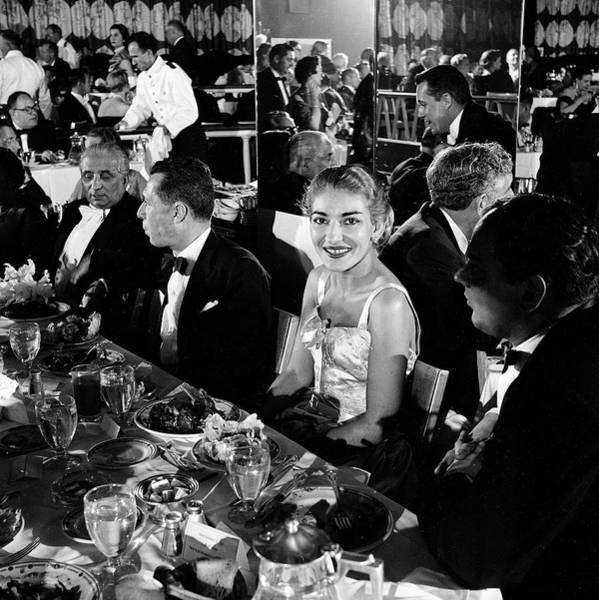 Photograph - Callas At Norma Afterparty by John Dominis