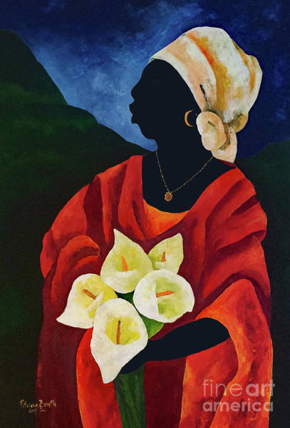Wall Art - Painting - Callas Five by Patricia Brintle