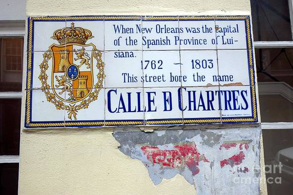 Photograph - Calle D Chartres New Orleans Louisiana by Susan Carella