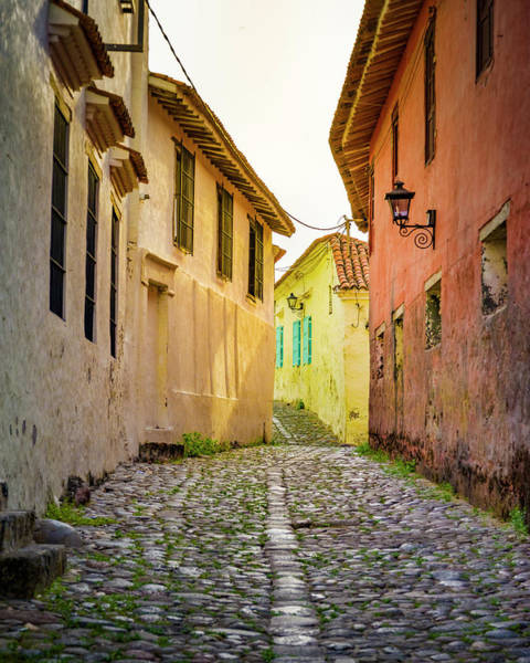 Photograph - Calle De Las Trampas Entrance Historical Honda Tolima Colombia by Adam Rainoff