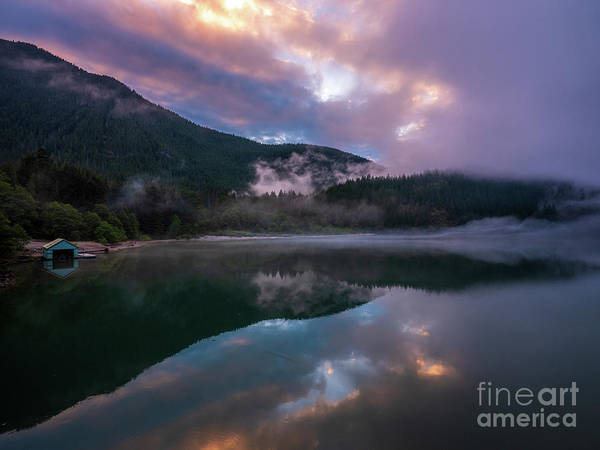 Wall Art - Photograph - Calm Lake Sunset Reflection by Mike Reid