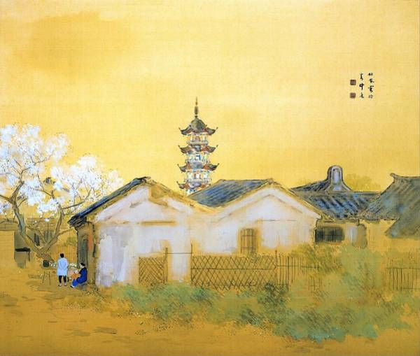Wall Art - Painting - Calm Spring In Jiangnan - Digital Remastered Edition by Takeuchi Seiho