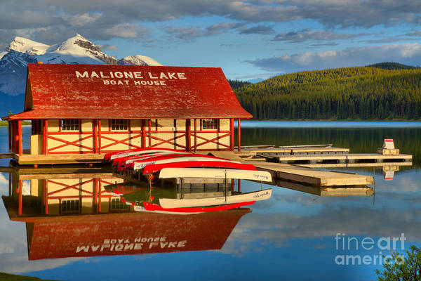 Photograph - Calm Summer Afternoon At Maligne Lake by Adam Jewell