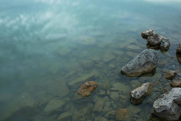 Wall Art - Photograph - Calm With Rock by Hyuntae Kim