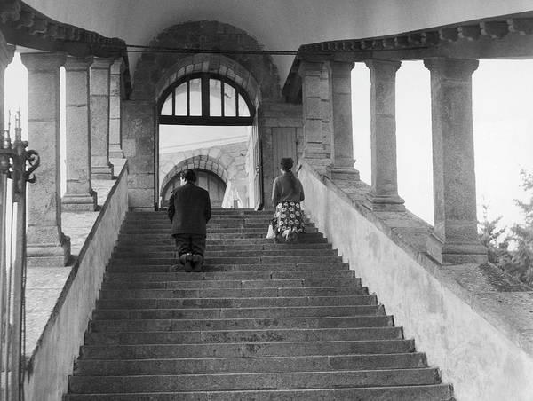 Pilgrimage Wall Art - Photograph - Calvary Of Sainte-anne-dauray In 1969 by Keystone-france