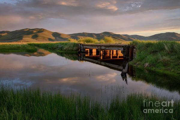 Centennial Bridge Photograph - Camas Creek by Idaho Scenic Images Linda Lantzy