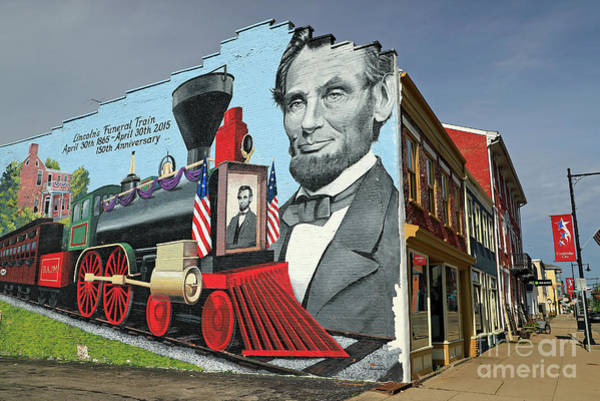 Wall Art - Photograph - Cambridge City, Indiana Mural by Steve Gass
