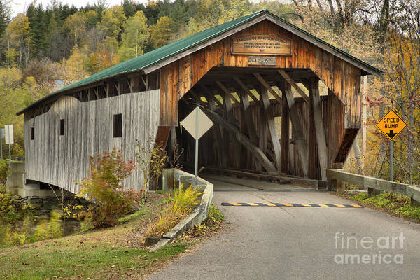 Photograph - Cambridge Junction Covered Bridge by Adam Jewell