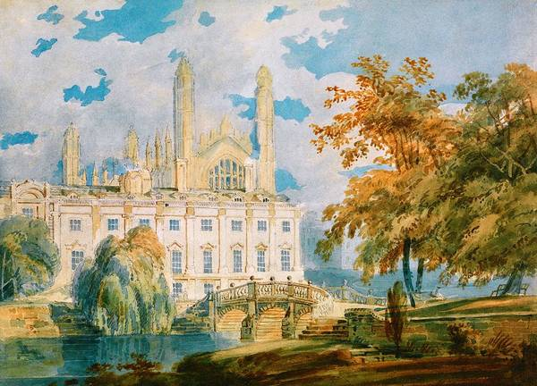 Wall Art - Painting - Cambridge University's Claire Hall And King's College Chapel - Digital Remastered Edition by William Turner