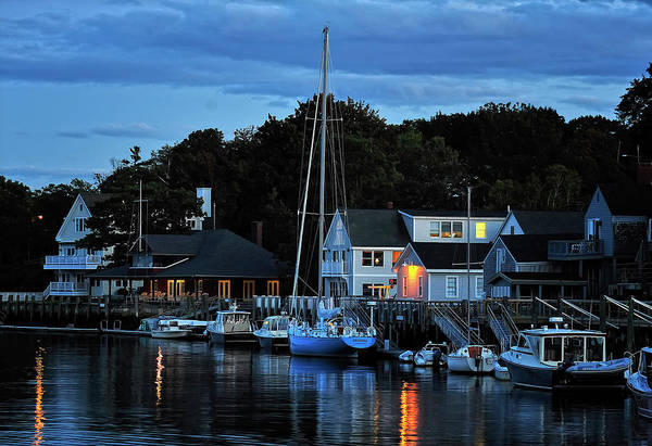 Camden Maine Twightlight Art Print
