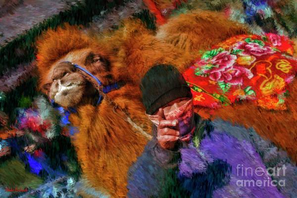 Photograph - Camel At The Great Wall China by Blake Richards