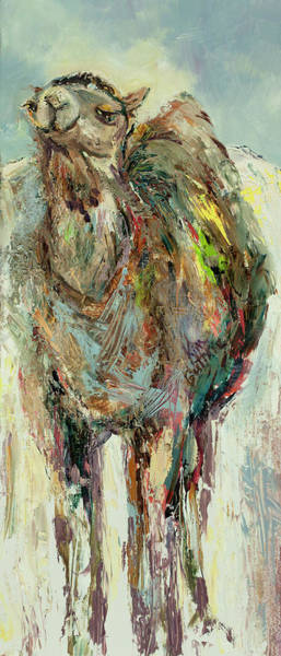 Wall Art - Painting - Camel Painting Called Eye Of The Needle by Kim Guthrie